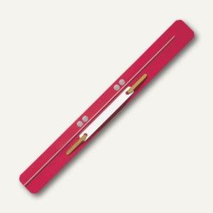 LEITZ Heftstreifen, 35 x 310 mm, PP-Folie, rot, 25 Stück, 3711-00-25