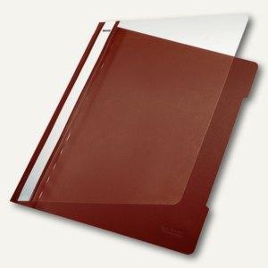 Kunststoff-Schnellhefter PVC, DIN A4, 250 Blatt, braun, 25 St