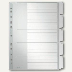 20-teilig LEITZ Kunststoff-Register blanko A4 Überbreite