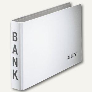 LEITZ Bankordner, für Kontoauszüge, weiß, 2-Ring-Mechanik, 1002-00-01