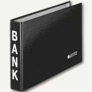LEITZ Bankordner, für Kontoauszüge, 2-Ring-Mechanik, schwarz, 1002-00-95