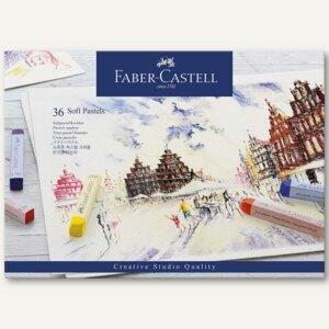 Faber-Castell Pastellkreide, 36er Pack, farbig sortiert, 128336