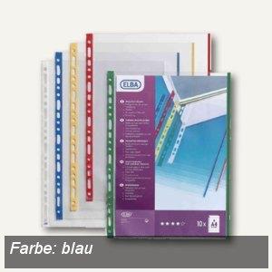 PP Elba 100206873 Prospekthlle blau DIN A4 mit farbigem Rand