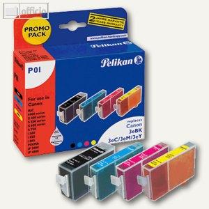 Promo Pack P01 - VE 4 Patronen CMYK für Canon BCI-3E