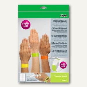 Eventbänder Super Soft m. Etiketten