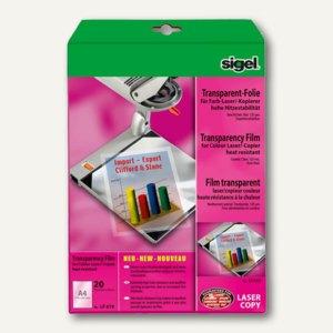 Farb-Laserdrucker-/Kopier-Folie, DIN A4, transparent, 20 Blatt, LF619