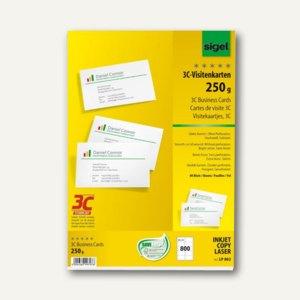 Pc Visitenkarten 3c 85 X 55 Mm 250 G Qm Hochweiß 800 Stück