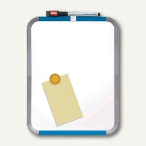"Nobo Magnettafel ""Slim-Line"", 220 x 280 mm, 2 Magnete, Stift, weiß, QB05142ASTD"