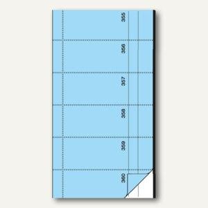 Sigel Bonbuch, 360 Abrisse, Blaupapier, 105 x 200mm, blau, 2 x 60 Blatt, BO075