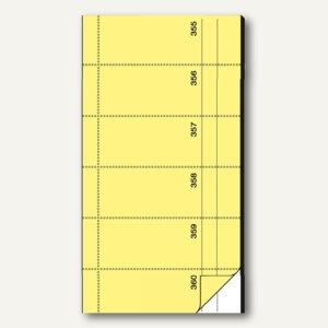 Sigel Bonbuch, 360 Abrisse, Blaupapier, 105 x 200mm, gelb, 2 x 60 Blatt, BO076