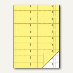 Sigel Bonbuch, 1000 Abrisse, DIN A4, Blaupapier, gelb, 2x 50 Blatt, BO116