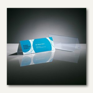Sigel Tischaufsteller, Dachform, 190 x 60 mm, Hartplastik, klar, 5 St., TA132