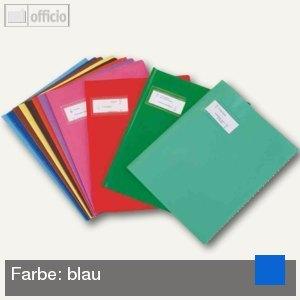 "Heftschoner ""Styl'SMS"", 240 x 320 mm, PVC, blau, 25 St"