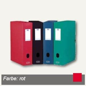 Sammelbox Memphis, DIN A4, m.Druckknopf, 80 mm, PP, rot, 100200176