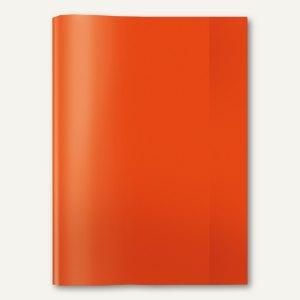 Heftschoner PP DIN A4 transparent/rot