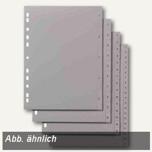 Kunststoff-Register Zahlen 1-12 DIN A4+