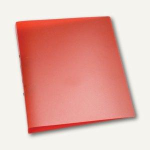 Ringbuch DIN A4, 2 Ringe - Ringdurchmesser: 25 mm, rot-transparent
