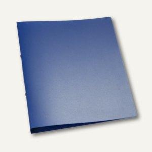 Ringbuch DIN A4, 2 Ringe - Ringdurchmesser: 25 mm, blau-transparent