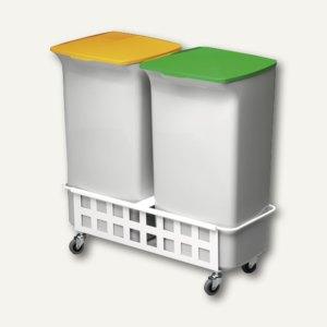 Abfallbehälter-Set DURABIN SQUARE 40 mit Fahrwagen
