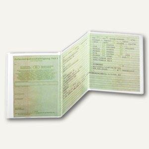 Durable Ausweishülle KFZ-Schein, PP, transparent, dreiteilig, 2142-19