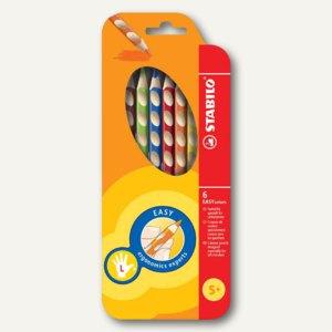 STABILO Buntstifte EASYcolors, für Linkshänder, 6er Etui, 331/6