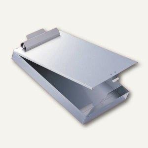 Klemmbrett, DIN A4 Box, Klemmfeder, 25mm, Aluminium, antibakt., 339223