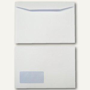 Kuvertierhüllen DIN C5 162 x 229 mm 90g/qm Fenster offset weiß 500 St.