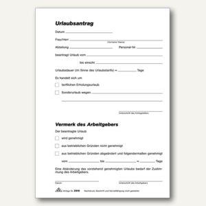 Urlaubsantrag-Block Formular