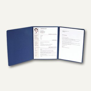 Bewerbungsmappe Karton/ blau 400 g/qm