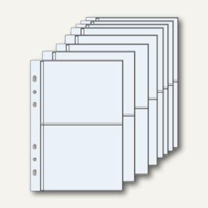 bind Klarsichthüllen mit Unterteilung, ca. DIN A6, 10er Pack, B-2647