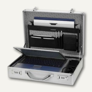 Alumaxx Laptop-Attachékoffer KRONOS, 455 x 330 x 120 mm, silber, 45131