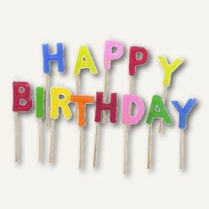 Buchstabenkerzen-Set Happy Birthday