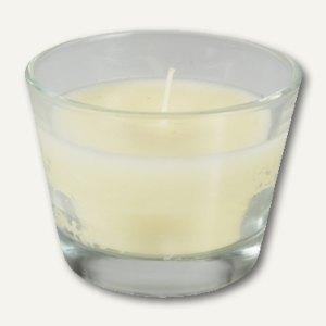 Glas mit Wachsfüllung Ivory