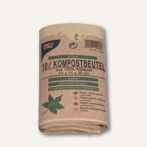 Papstar Kompostbeutel aus Papier, 10 l, braun, 200 Stück, 14184