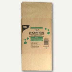 Papstar Kompostsäcke aus Papier, 120 l, 110 x 68 cm, braun, 30 Stück, 14182
