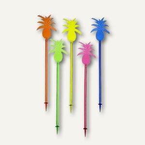 "Longdrink-Sticks ""Pineapple"", 23.5 cm, farbig sortiert, 120 St., 81081"