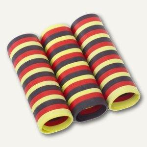 Luftschlangen schwarz/rot/gelb - (L)4 m