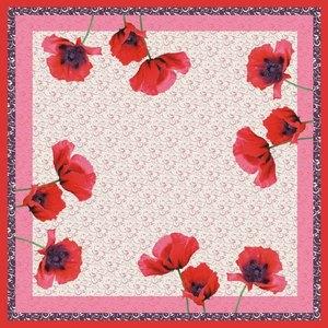 Mitteldecke Poppy Flowers