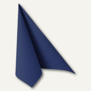 "Papstar Servietten ""ROYAL Collection"", 1/4-Falz, 48x48cm, blau, 250St., 11575"