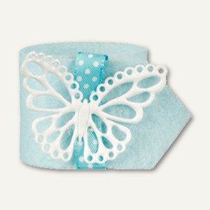 """Papstar Serviettenringe """"Butterfly"""", Ř 4 cm, hellblau, 24er-Pack, 81728"""