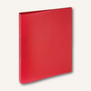 """Ringbuch """"Lucy Colours"""" DIN A4, 25 mm, PP, rot-transparent, 20900-03"""