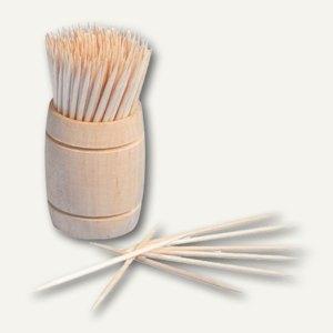 Zahnstocher und Spender aus Holz