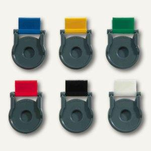 Kunststoff-Foldback-Klammer BRUTUS, 19 mm, farbig sortiert, 12 St