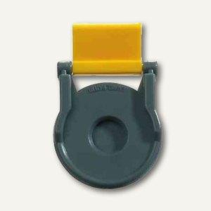 Kunststoff-Foldback-Klammer BRUTUS, 19 mm, gelb, 12 St