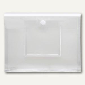 Umschlag, DIN A4 quer, CD Tasche, Dehnfalte, transparent, Füllhöhe 30mm, 20 St.