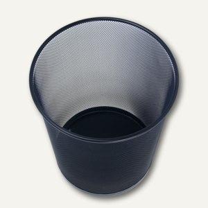 Papierkorb OFFICE, Drahtmetall, rund, 18 Liter, schwarz, 65201