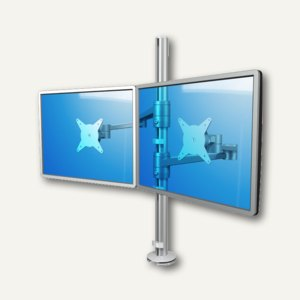 Viewlite Monitorarm, 2 Monitore, Gelenkarm, Tisch (S