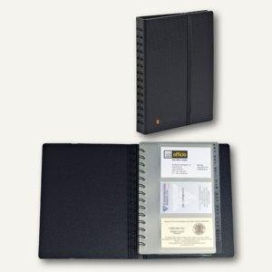 Visitenkartenbuch Exactive, 200 x 145 mm, für 120 Visitenkarten, schwarz, 75034E