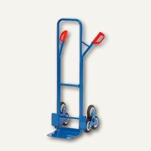 Treppenkarre, mit 2 dreiarmigen Rad-Sternen, Tragkraft 200kg, blau, TK1325