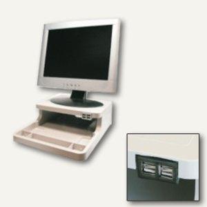 Monitorständer und Organizer mit 4-fach USB-Hub
